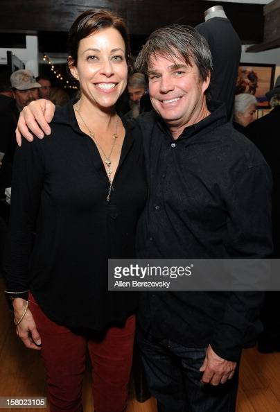 Designer Tory Lee and his wife attend the launch of Peter Fonda's new men's fashion line and protective riding gear collection for Troy Lee Designs...