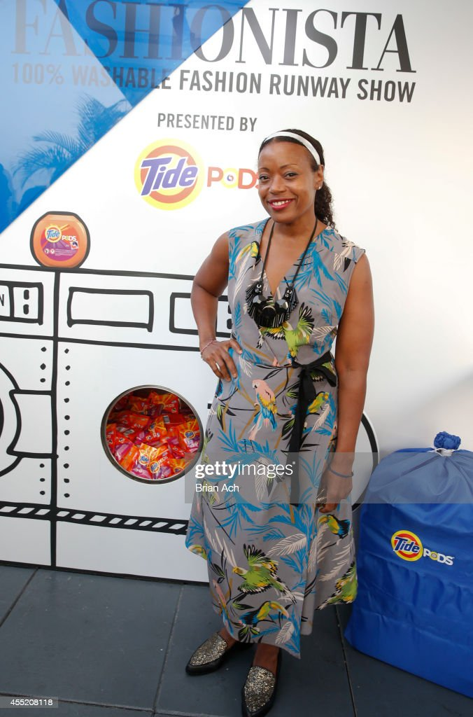 Designer Tracey Reese is seen at the Fashionista And Tide Event at Empire Hotel Rooftop on September 10 2014 in New York City