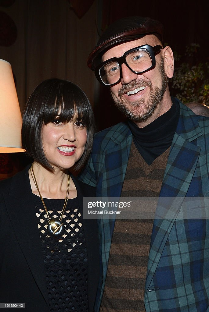 Designer Trina Turk and Jonathan Skow attend the Mercedes-Benz Start Lounge at Lincoln Center on February 10, 2013 in New York City.