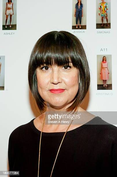 Designer Trina Turk attends the Tina Turk presentation during Spring 2014 MercedesBenz Fashion Week at The Box at Lincoln Center on September 8 2013...