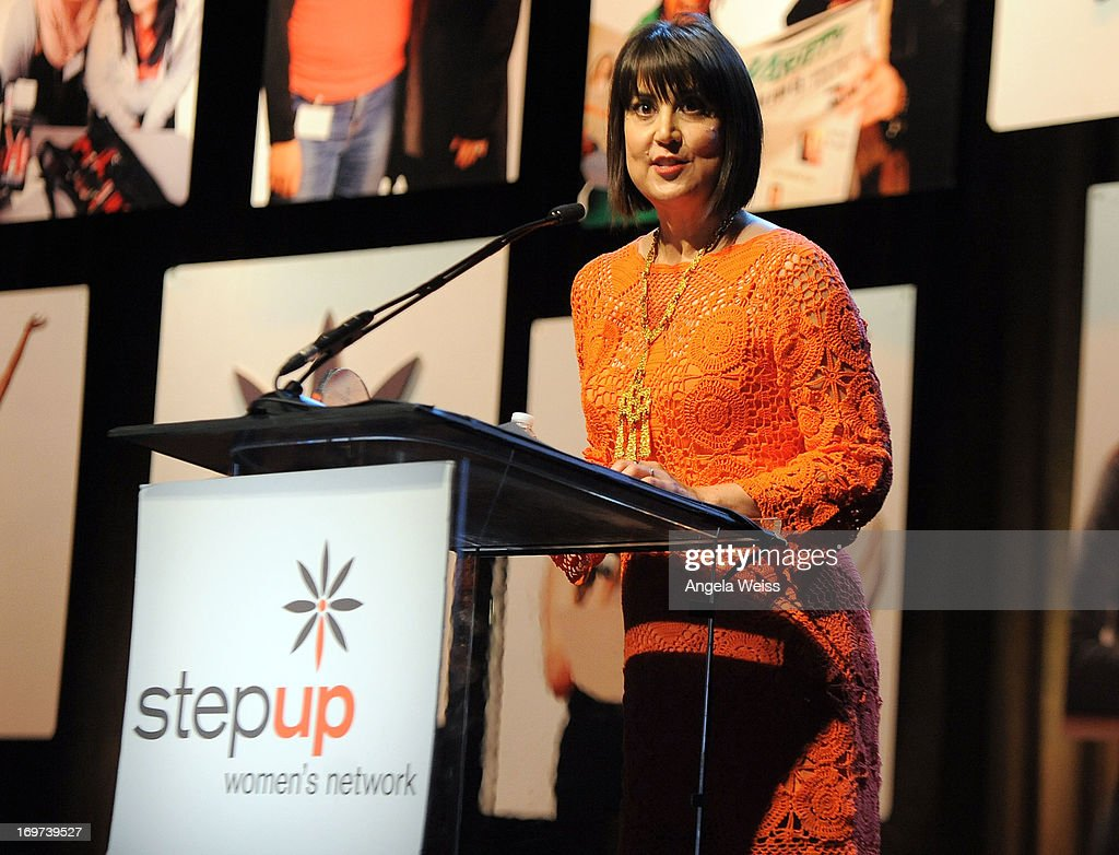 Designer Trina Turk speaks at Step Up Women's Network 10th annual Inspiration Awards at The Beverly Hilton Hotel on May 31, 2013 in Beverly Hills, California.