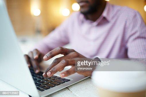 Designer typing : Stock Photo