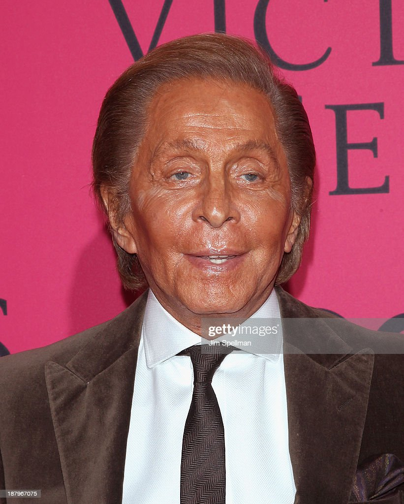 Designer Valentino attends the 2013 Victoria's Secret Fashion Show at Lexington Avenue Armory on November 13, 2013 in New York City.