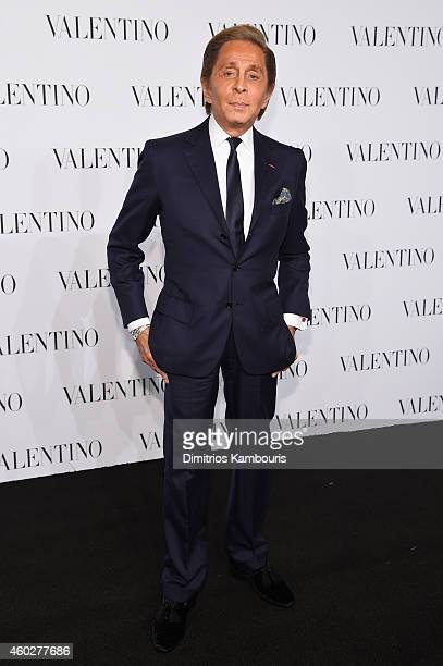 Designer Valentino Garavani attend the Valentino Sala Bianca 945 Event on December 10 2014 in New York City