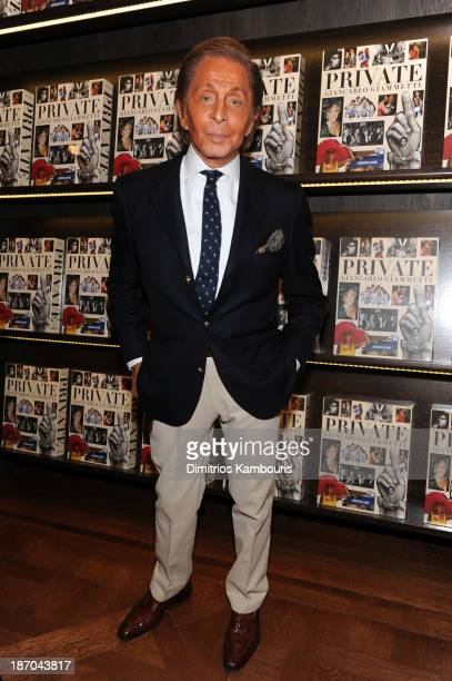 Designer Valentino Garavani attends a book signing for Giancarlo Giammetti's Autobiography 'Private Giancarlo Giammetti' hosted by Martine and...
