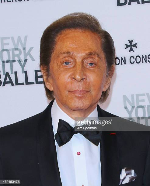 Designer Valentino Garavani attends the New York City Ballet 2015 spring gala at David H Koch Theater Lincoln Center on May 7 2015 in New York City