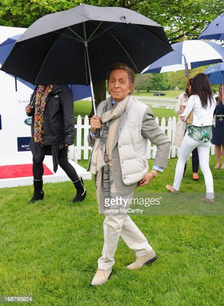 Designer Valentino Garavani attends the Sentebale Royal Salute Polo Cup during the sixth day of HRH Prince Harry's visit to the United States at...