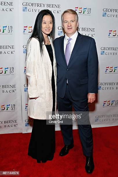 Designer Vera Wang and Chief Executive Officer of CEO of Men's Wearhouse Doug Ewert attend the YMA Fashion Scholarship Fund Geoffrey Beene National...