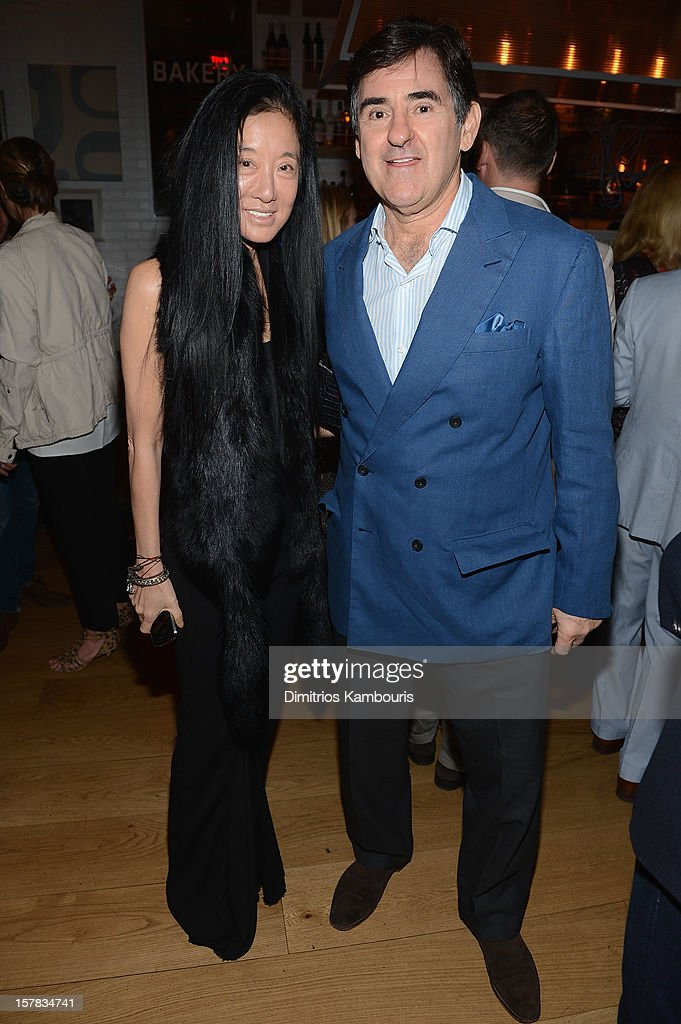Designer Vera Wang and <a gi-track='captionPersonalityLinkClicked' href=/galleries/search?phrase=Peter+Brant&family=editorial&specificpeople=2469568 ng-click='$event.stopPropagation()'>Peter Brant</a> attend the Aby Rosen & Samantha Boardman dinner at The Dutch on December 6, 2012 in Miami, Florida.