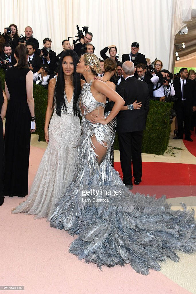 Designer Vera Wang and recording artist Rita Ora attend the 'Manus x Machina: Fashion In An Age Of Technology' Costume Institute Gala at Metropolitan Museum of Art on May 2, 2016 in New York City.