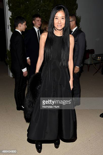 Designer Vera Wang attends the 12th annual CFDA/Vogue Fashion Fund Awards at Spring Studios on November 2 2015 in New York City