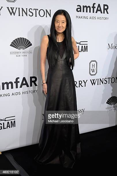 Designer Vera Wang attends the 2015 amfAR New York Gala at Cipriani Wall Street on February 11 2015 in New York City