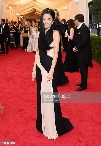 Designer Vera Wang attends the 'Charles James Beyond Fashion' Costume Institute Gala at the Metropolitan Museum of Art on May 5 2014 in New York City