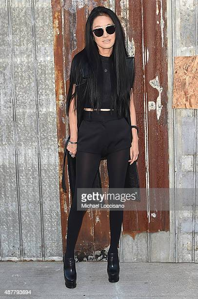Designer Vera Wang attends the Givenchy fashion show during Spring 2016 New York Fashion Week at Pier 26 at Hudson River Park on September 11 2015 in...