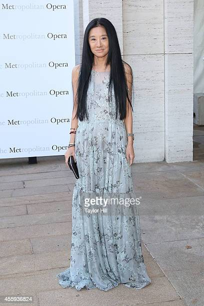 Designer Vera Wang attends the season opening of 'The Marriage of Figaro' at The Metropolitan Opera House on September 22 2014 in New York City