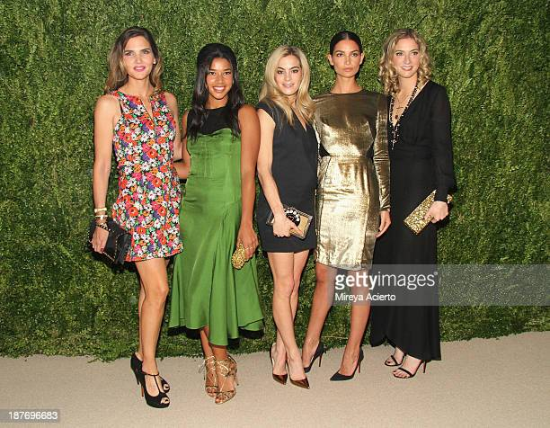 Designer Veronica Miele Beard Hannah Bronfman Chelsea Leyland Lily Aldridge and designer Veronica Swanson Beard attend CFDA and Vogue 2013 Fashion...