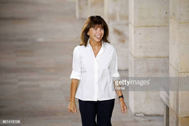 Designer Veronique Nichanian during the Hermes Menswear Spring/Summer 2018 show as part of Paris Fashion Week on June 24 2017 in Paris France