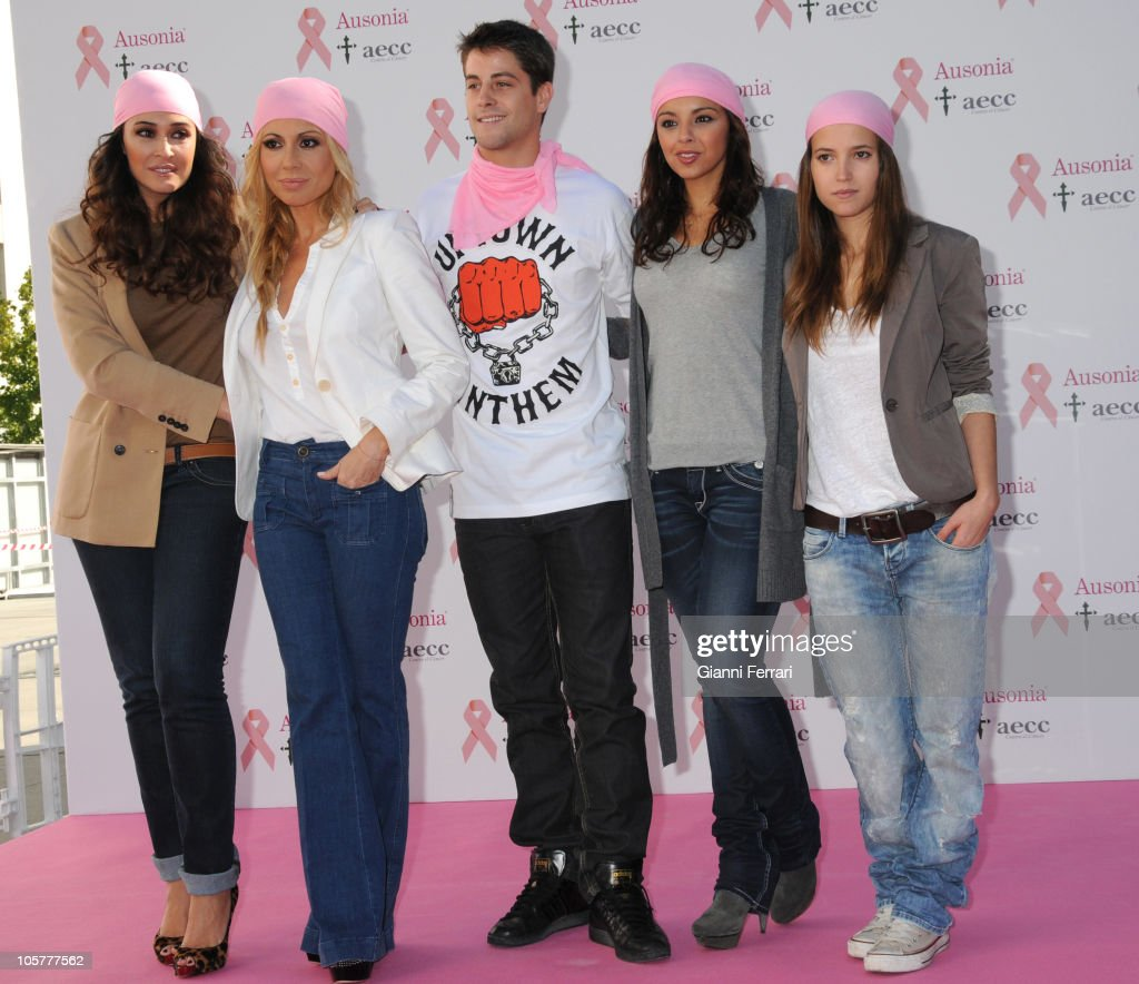 Designer Vicky Martin Berrocal singer Marta Sanchez actor Luis Fernandez singer Chenoa and actress Ana Fernandez attend 'Ausonia Against Breast...