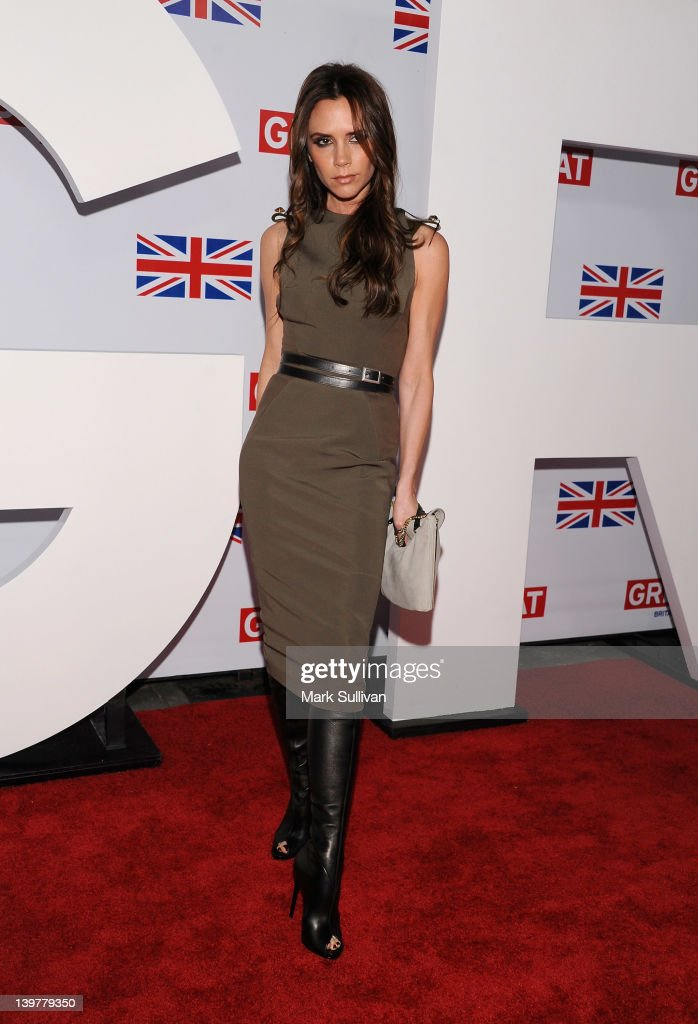 Designer Victoria Beckham attends the GREAT British Film Reception to honor the British nominees of The 84th Annual Academy Awards at the British...