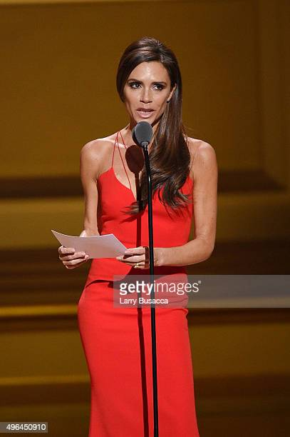 Designer Victoria Beckham speaks onstage at the 2015 Glamour Women of the Year Awards on November 9 2015 in New York City