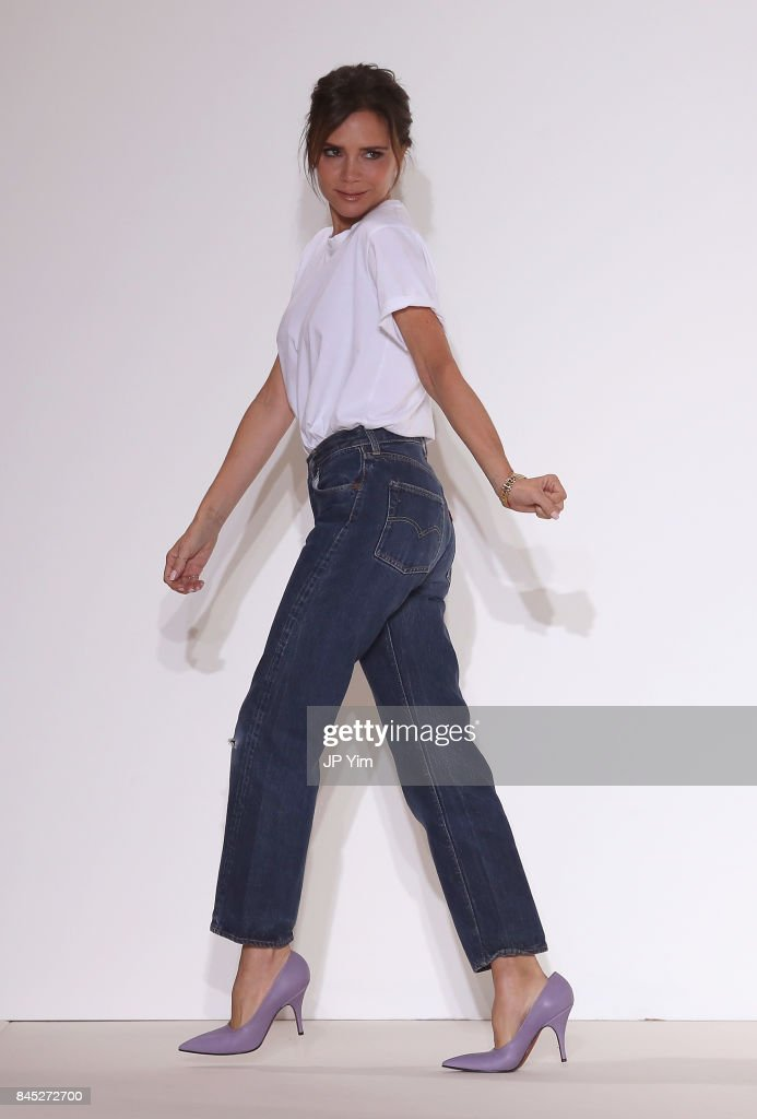 Designer Victoria Beckham walks the runway for Victoria Beckham fashion show during New York Fashion Week: The Shows on September 10, 2017 in New York City.