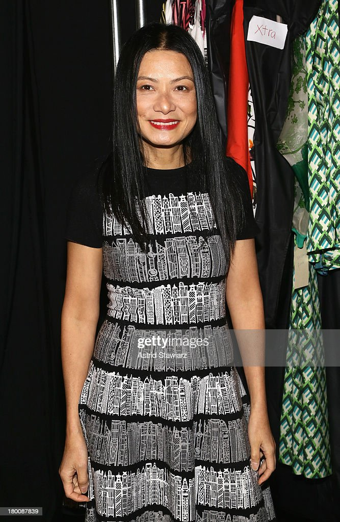 Designer Vivienne Tam attends the TRESemme at Vivienne Tam fashion show during Mercedes-Benz Fashion Week Spring 2014 at The Stage at Lincoln Center on September 8, 2013 in New York City.