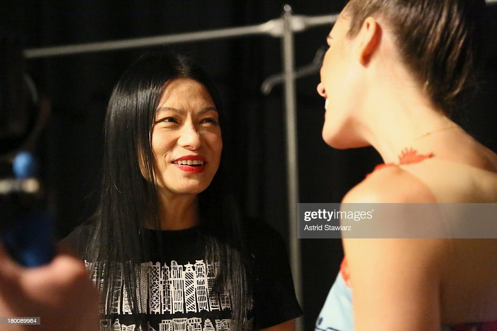 Designer <a gi-track='captionPersonalityLinkClicked' href=/galleries/search?phrase=Vivienne+Tam+-+Fashion+Designer&family=editorial&specificpeople=12460326 ng-click='$event.stopPropagation()'>Vivienne Tam</a> attends the TRESemme at <a gi-track='captionPersonalityLinkClicked' href=/galleries/search?phrase=Vivienne+Tam+-+Fashion+Designer&family=editorial&specificpeople=12460326 ng-click='$event.stopPropagation()'>Vivienne Tam</a> fashion show during Mercedes-Benz Fashion Week Spring 2014 at The Stage at Lincoln Center on September 8, 2013 in New York City.