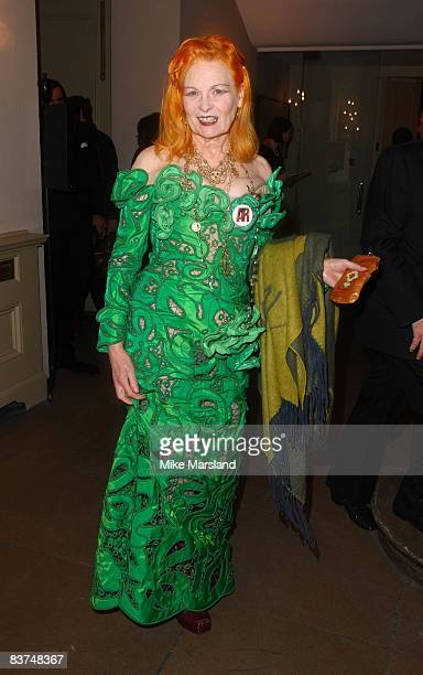 Designer Vivienne Westwood attends Chaos Point in aid of NSPCC at the Banqueting House November 18 2008 in London England