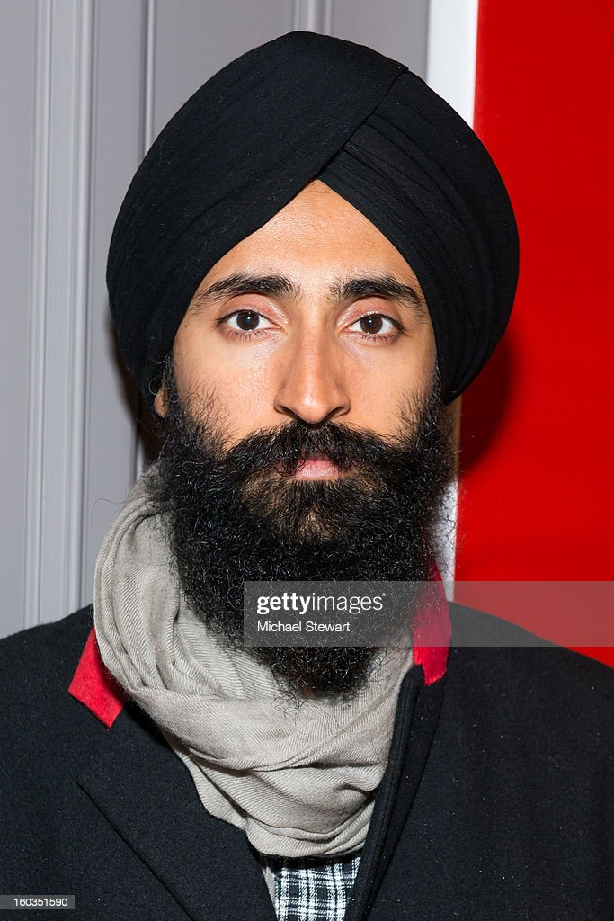 Designer <a gi-track='captionPersonalityLinkClicked' href=/galleries/search?phrase=Waris+Ahluwalia&family=editorial&specificpeople=887610 ng-click='$event.stopPropagation()'>Waris Ahluwalia</a> attends ETRO Spring 2013 Collection Celebration Hosted By Erik Madigan Heck at ETRO Soho Boutique on January 29, 2013 in New York City.