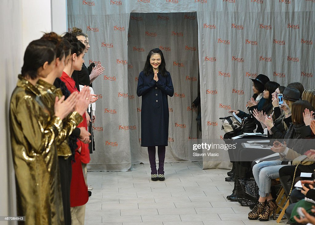 Designer <a gi-track='captionPersonalityLinkClicked' href=/galleries/search?phrase=Way+Zen&family=editorial&specificpeople=5514122 ng-click='$event.stopPropagation()'>Way Zen</a> walks the runway at JSong ... Way presentation on February 5, 2014 in New York City.