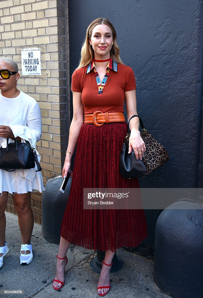 Designer Whitney Port attends the Alice + Olivia by Stacey Bendet Spring/Summer 2017 Presentation during New York fashion week at The Gallery, Skylight at Clarkson Sq on September 13, 2016 in New York City.