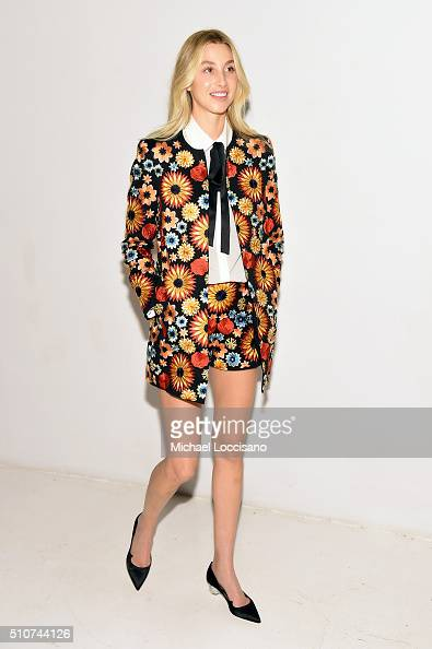 Designer Whitney Port poses at the alice olivia by Stacey Bendet Fall 2016 presentation at The Gallery Skylight at Clarkson Sq on February 16 2016 in...