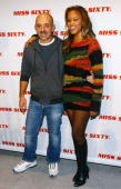 Designer Wichy Hassan and singer Eve arrive backstage at the Miss Sixty Fall 2007 fashion show at 7 World Trade Center on February 01 2007 in New...