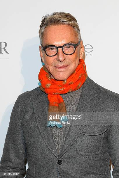 Designer Wolfgang Joop attends the group presentation during the Der Berliner Mode Salon A/W 2017 at Kronprinzenpalais on January 18 2017 in Berlin...