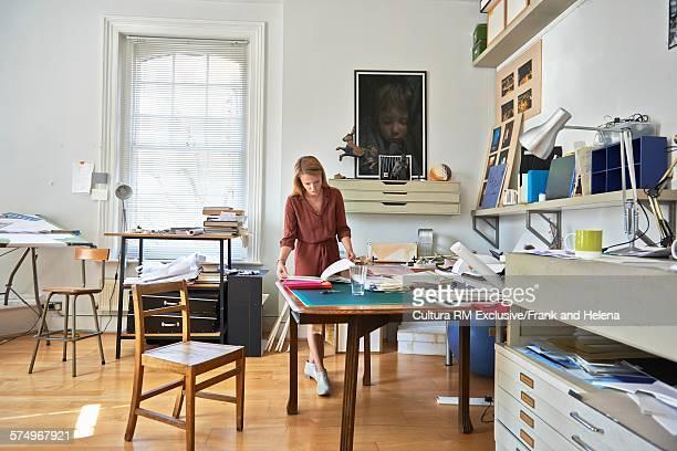 Designer working in office