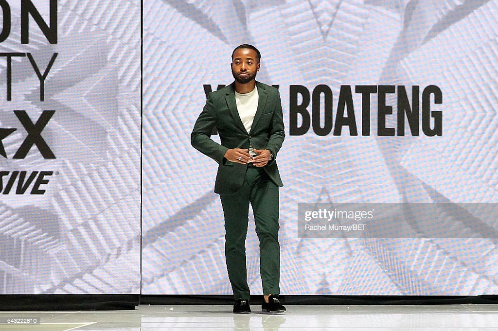 Designer Yaw Boateng walks the runway at the Fashion & Beauty @ BETX sponsored by Progressive fashion show during the 2016 BET Experience on June 26, 2016 in Los Angeles, California.