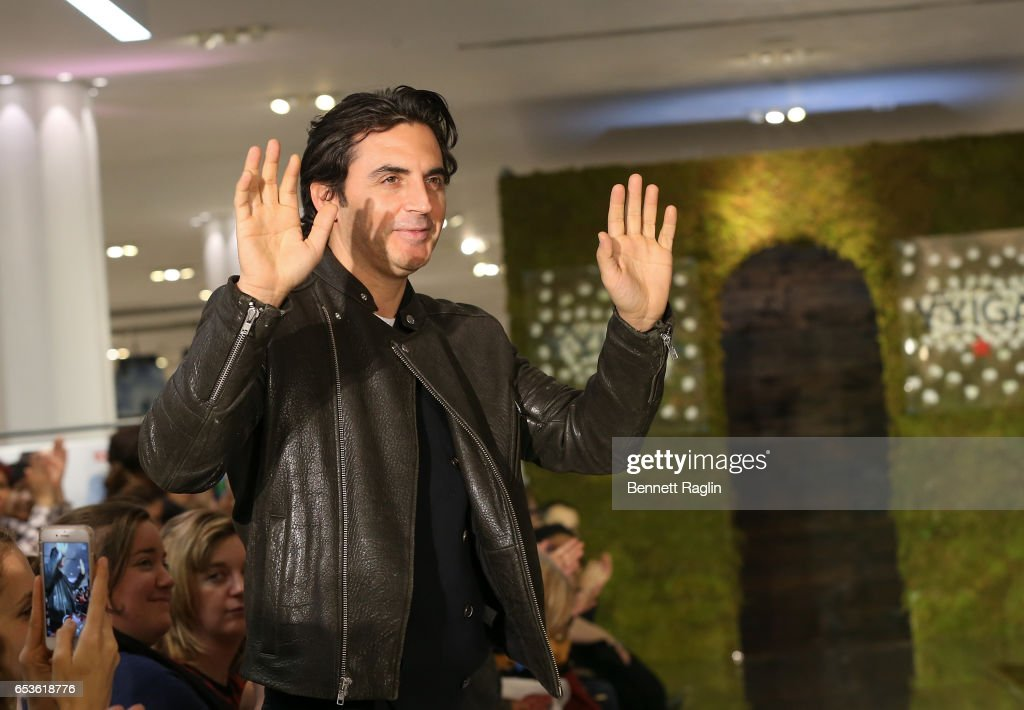 Designer Yigal Azrouel's poses for a picture during YYigal Capsule Collection Launch at Macy's Herald Square on March 15, 2017 in New York City.