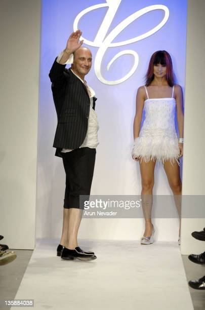 Designer Yves Castaldi and Bai Ling walks the runway at the Yves Castaldi Spring 2008 fashion show during Mercedes Benz Fashion Week held at Smashbox...