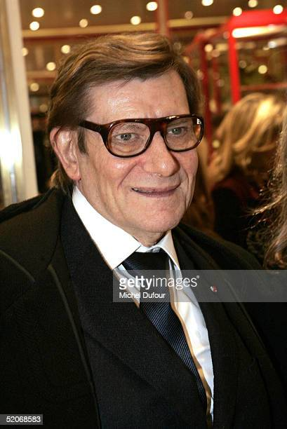 Designer Yves Saint Laurent attends the Loulou de la Falaise Shop opening party at rue Cambon near Chanel as part of Paris Fashion Week Spring/Summer...