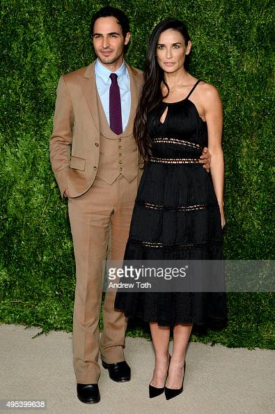 Designer Zac Posen and actress Demi Moore attend the 12th annual CFDA/Vogue Fashion Fund Awards at Spring Studios on November 2 2015 in New York City