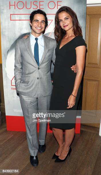 Designer Zac Posen and actress Katie Holmes attend the premiere of 'House Of Z' hosted by Brooks Brothers with The Cinema Society at Crosby Street...