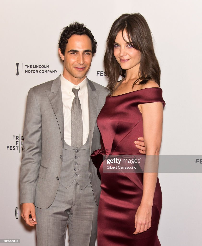 Designer <a gi-track='captionPersonalityLinkClicked' href=/galleries/search?phrase=Zac+Posen+-+Fashion+Designer&family=editorial&specificpeople=4442066 ng-click='$event.stopPropagation()'>Zac Posen</a> and actress <a gi-track='captionPersonalityLinkClicked' href=/galleries/search?phrase=Katie+Holmes&family=editorial&specificpeople=201598 ng-click='$event.stopPropagation()'>Katie Holmes</a> attend the screening of 'Miss Meadows' during the 2014 Tribeca Film Festival at SVA Theater on April 21, 2014 in New York City.