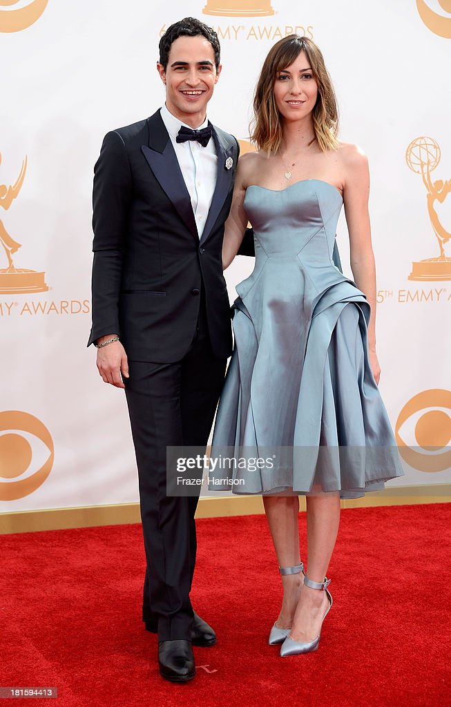 Designer Zac Posen and director Gia Coppola arrive at the 65th Annual Primetime Emmy Awards held at Nokia Theatre LA Live on September 22 2013 in Los...