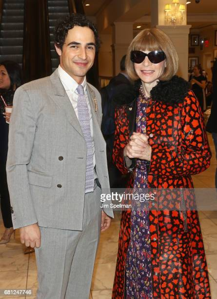 Designer Zac Posen and journalist/editor Anna Wintour attend Plum Skye's 'Party Girls Die In Pearls' book launch celebration at Brooks Brothers on...