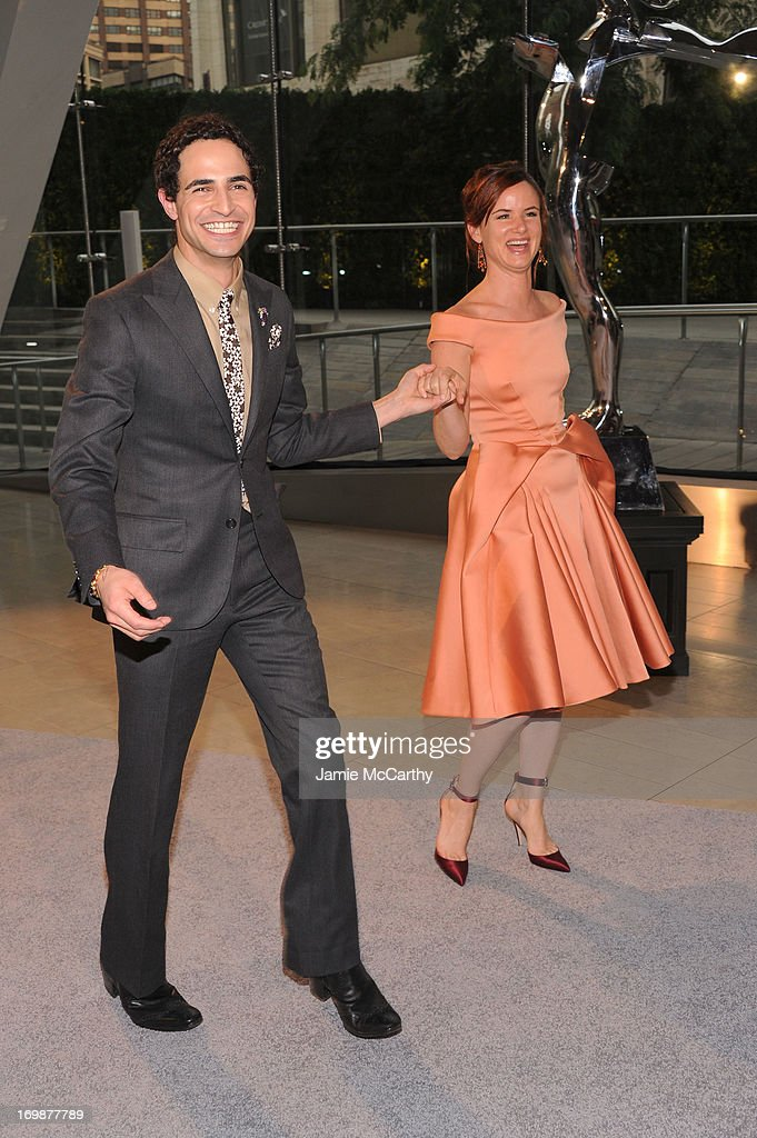 Designer Zac Posen and Juliette Lewis attend the 2013 CFDA Fashion Awards on June 3, 2013 in New York, United States.