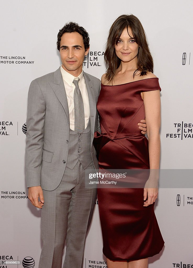 Designer <a gi-track='captionPersonalityLinkClicked' href=/galleries/search?phrase=Zac+Posen+-+Fashion+Designer&family=editorial&specificpeople=4442066 ng-click='$event.stopPropagation()'>Zac Posen</a> (L) and <a gi-track='captionPersonalityLinkClicked' href=/galleries/search?phrase=Katie+Holmes&family=editorial&specificpeople=201598 ng-click='$event.stopPropagation()'>Katie Holmes</a> attend the 'Miss Meadows' Premiere during 2014 Tribeca Film Festival at the SVA Theater on April 21, 2014 in New York City.