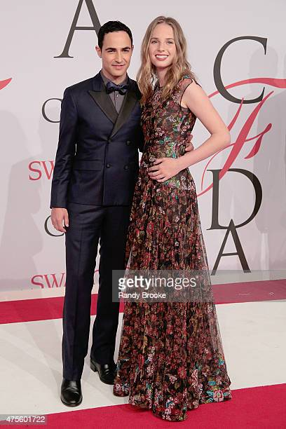 Designer Zac Posen and Maya ThurmanHawke attends the 2015 CFDA Fashion Awards at Alice Tully Hall at Lincoln Center on June 1 2015 in New York City