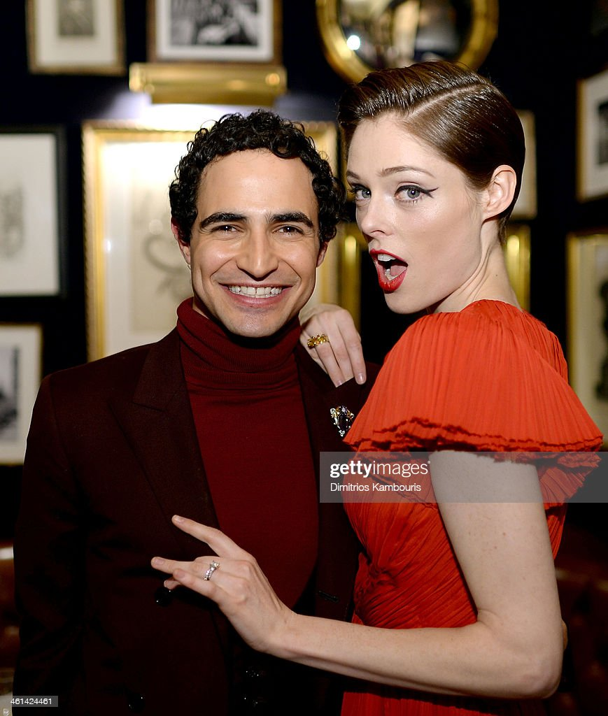 Designer Zac Posen and model Coco Rocha attend BRIDES February/March Issue Celebration with Zac Posen as they celebrate the cover featuring his new...