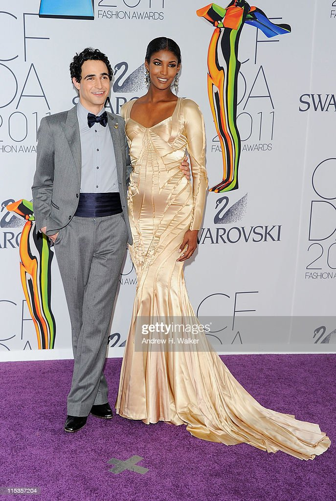 Designer Zac Posen and model <a gi-track='captionPersonalityLinkClicked' href=/galleries/search?phrase=Sessilee+Lopez&family=editorial&specificpeople=4344091 ng-click='$event.stopPropagation()'>Sessilee Lopez</a> attend the 2011 CFDA Fashion Awards at Alice Tully Hall, Lincoln Center on June 6, 2011 in New York City.