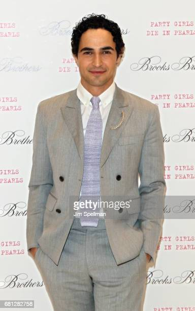 Designer Zac Posen attends Plum Skye's 'Party Girls Die In Pearls' book launch celebration at Brooks Brothers on May 9 2017 in New York City